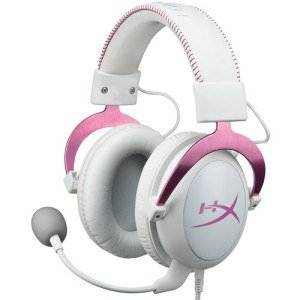 white pink kingston hyperx cloud ii