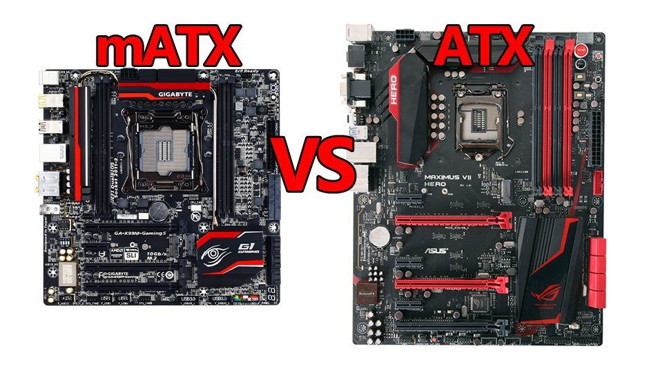 matx vs atx motherboards gaming pc