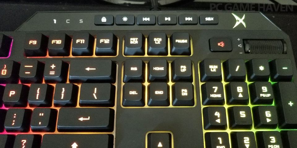 vanguard k08 media keys marked