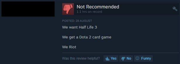 new steam review feature