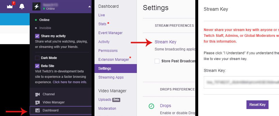 how to stream on twitch with obs step 3 image