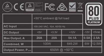 evga 650 p1 label