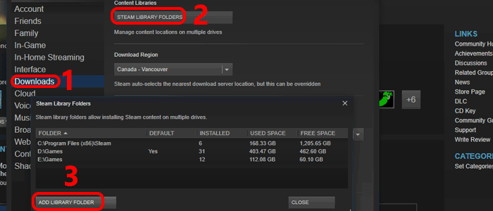 move steam games between drives step 0