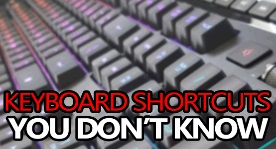 keyboard shortcuts you dont know small