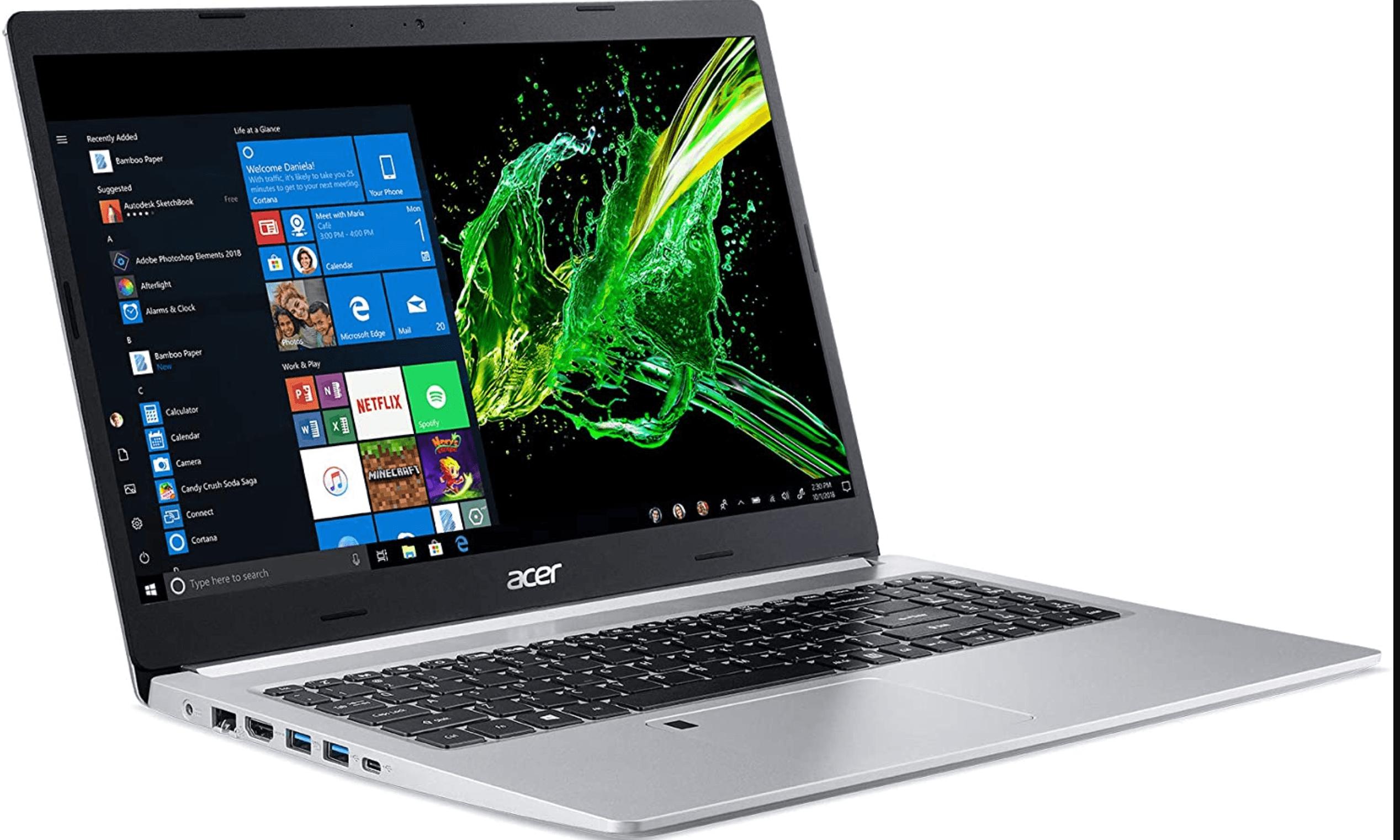 Acer Aspire 5 Slim Laptop silver
