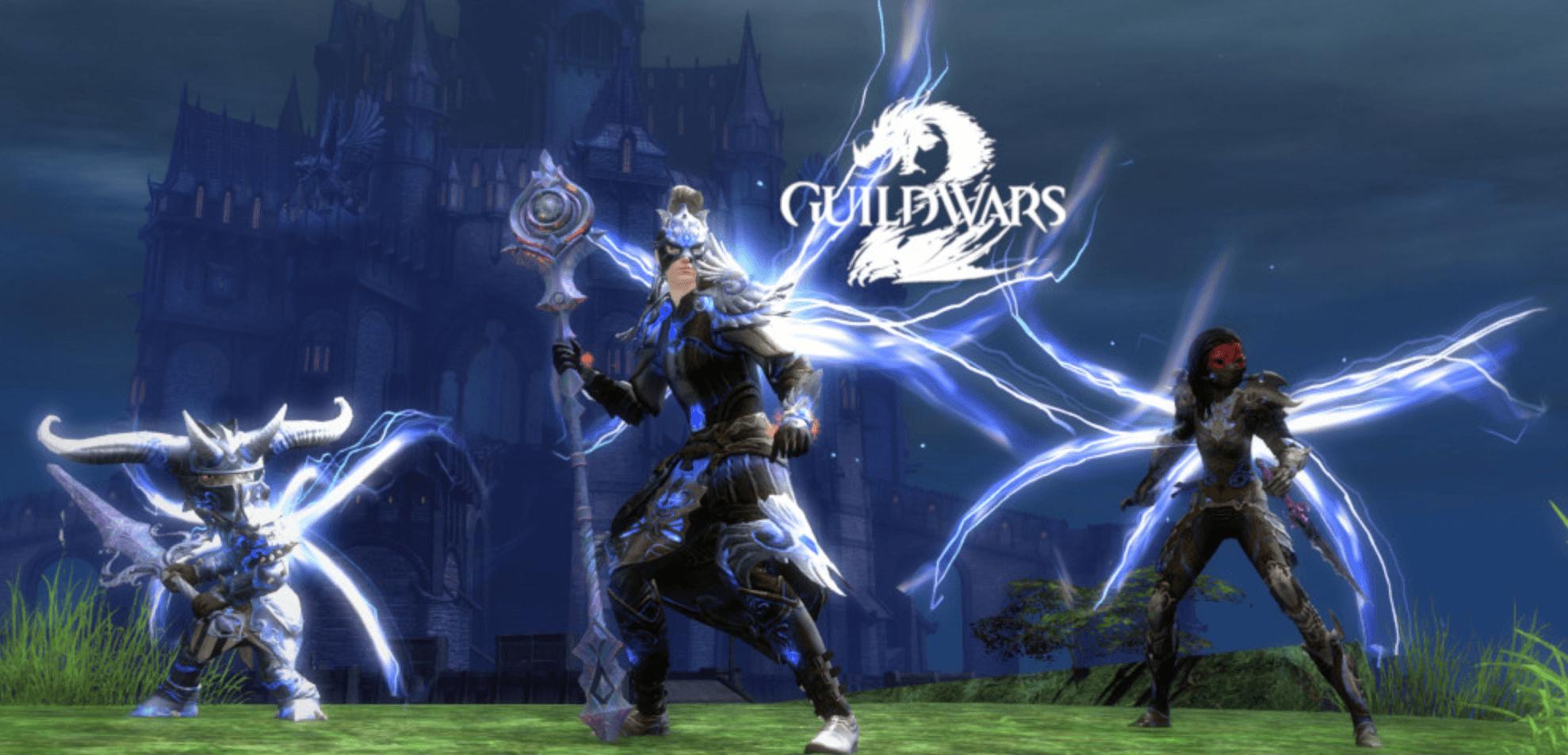 guild wars 2 online showing 3 fighters