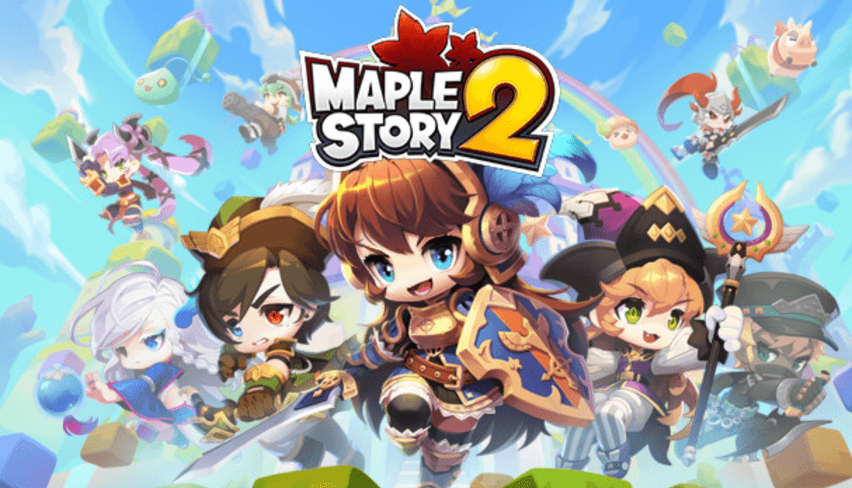 cartoon characters in sky maplestory 2 cover photo