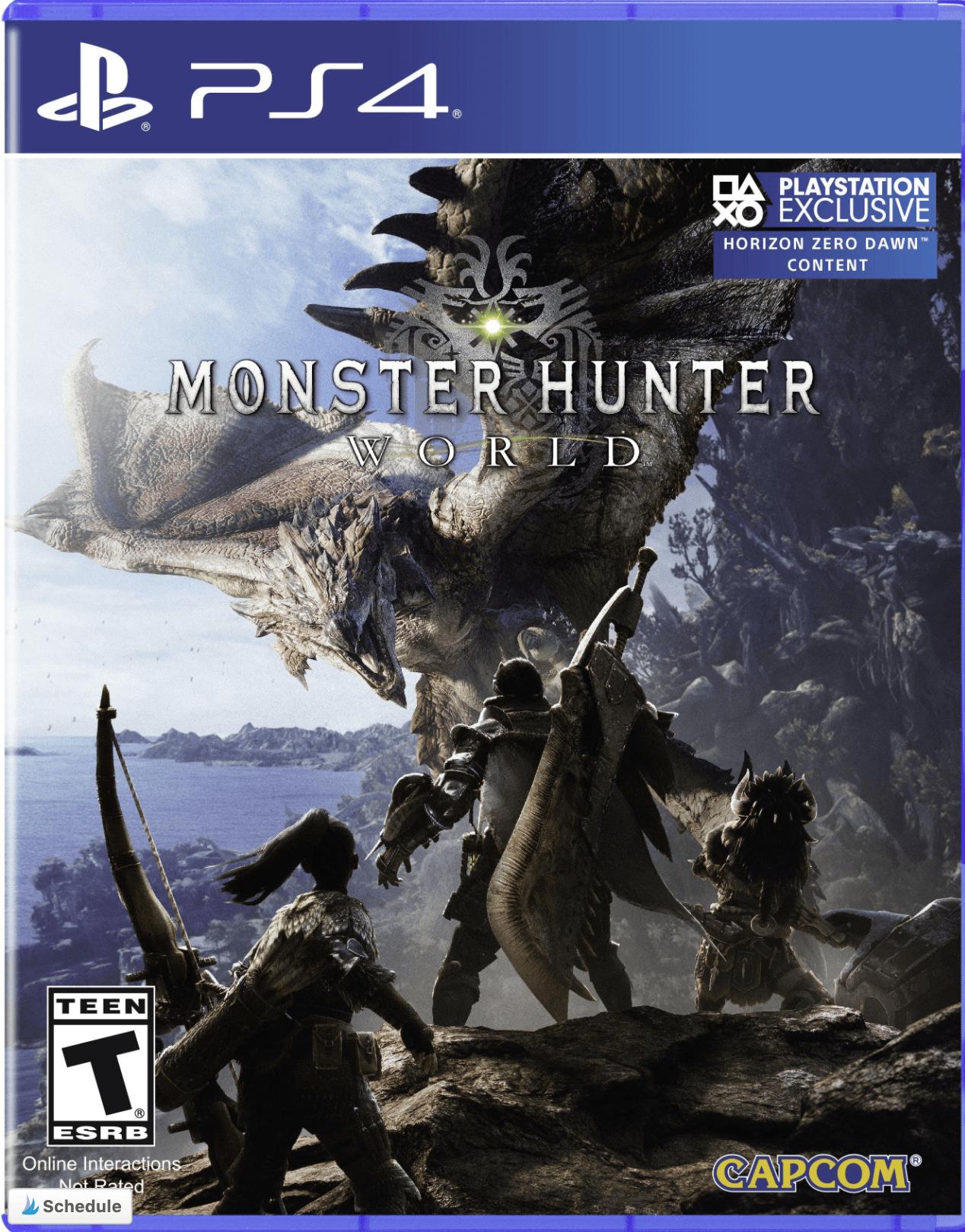 Monster Hunter World PS4 cover photo