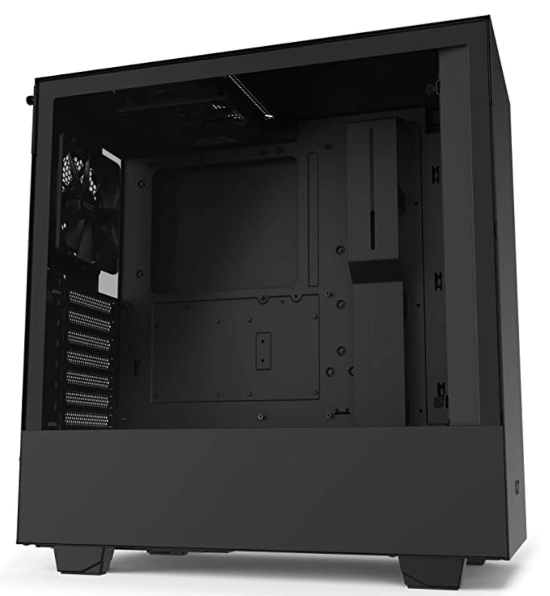black case mid tower atx