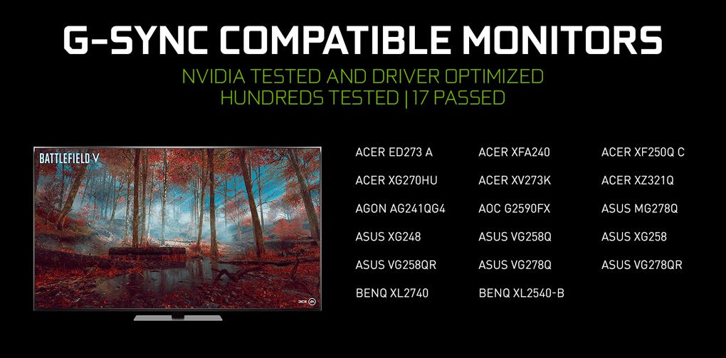 gsync compatible monitors