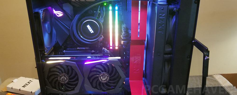 gaming pc with rgb lighting