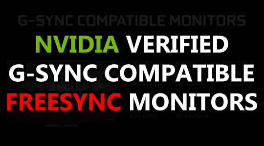 gsync compatible freesync monitors