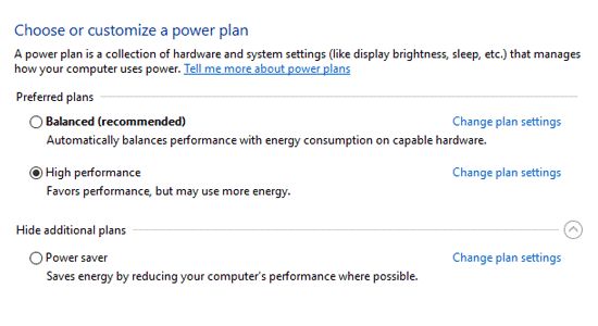 windows 10 power management options